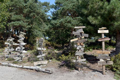 Signposts on Brownsea Island Stock Image