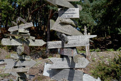 Signposts on Brownsea Island Royalty Free Stock Images