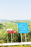 Signposts near Barolo Royalty Free Stock Image