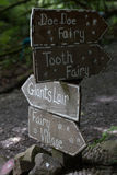 Signposts. One of signposts in Slieve Gulion Forest Park Royalty Free Stock Images