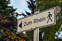 Signposts for pedestrians Stock Images
