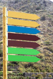 Signposts pointing in one direction Royalty Free Stock Photography