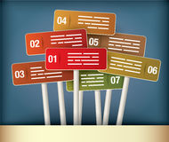Signposts Presentation Diagram Stock Photo