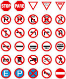 Signs 1. Road signs pack 1 (prohibition, reglamentation Vector Illustration