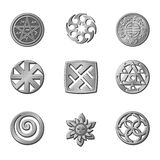 Signs. Medieval Occult Signs And Magic Stamps Royalty Free Stock Photos