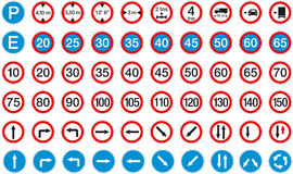 Signs 2. Road signs pack 2 (restriction, reglamentation Royalty Free Illustration