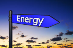Signs 3d energy Stock Photos