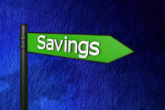 Signs 3d savings Stock Images