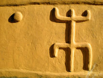 Signs. Mysetrious signs on a Dogon house Stock Photography