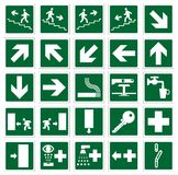 Signs. Emergency signs collection vector illustration Stock Photos