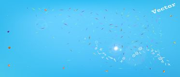 Signs abstract ultra wide space background royalty free illustration