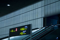 Signs at the airport Stock Photography