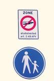 Signs alcohol ban juveniles Royalty Free Stock Photography