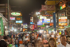 Signs along Khao San Road Royalty Free Stock Images