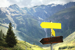 Signs in the Alps Royalty Free Stock Photography