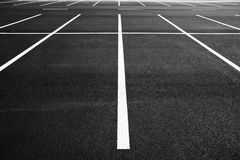 Signs as road markings on a street Stock Photo