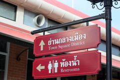 Signs in  ASIATIQUE Reiverfront. Signs in ASIATIQUE Reiverfront Chaophraya River Bangkok Thailand Royalty Free Stock Photos
