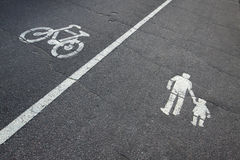 Signs on asphalt Stock Image
