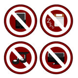 Signs of ban in office Royalty Free Stock Photos