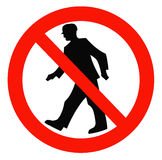 Signs ban. Prohibition sign on a white background Stock Photos