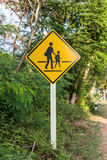 Signs Beware of pedestrians Stock Photography