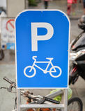 Signs of Bicycle Parking Royalty Free Stock Image