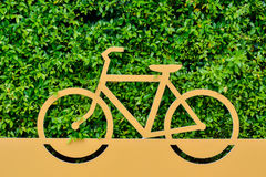 Signs bicycle parking Stock Photography