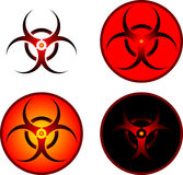 Signs of bio hazard Stock Photography