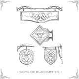 Signs of Blacksmiths Stock Image