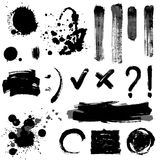 Signs and blots Stock Images