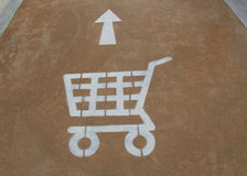 Signs cart to the floor Royalty Free Stock Photos