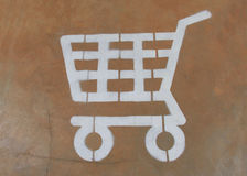 Signs cart to the floor Royalty Free Stock Image