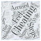 Signs of a Cheating Spouse word cloud concept. 10 Signs of a Cheating Spouse Vector Illustration