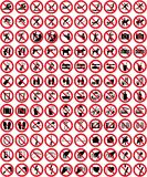Signs collection 4 - No sign (+ vector) Stock Photo