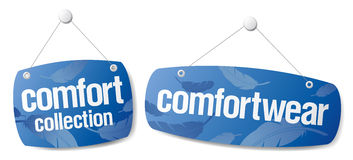 Signs for comfort collection Royalty Free Stock Photos