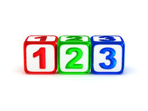 1 2 3 signs. Royalty Free Stock Photos