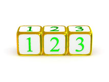 1 2 3 signs. Stock Photography