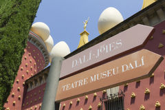 Signs Dali museum in Figueres. Stock Image
