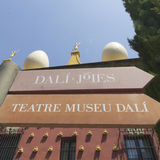 Signs Dali museum in Figueres. Royalty Free Stock Images
