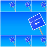 Signs and directions Stock Image