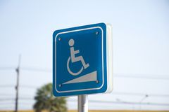Signs for the disabled stock images