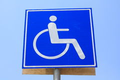 Signs of disabled access Stock Photo