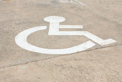 Signs for disabled people Royalty Free Stock Images
