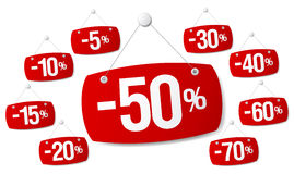 Signs for discount sale Stock Image