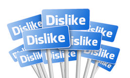 Signs with Dislike text Royalty Free Stock Photos