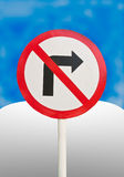 Signs, Do not turn right. Stock Photography