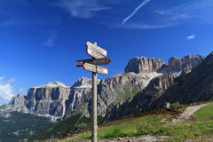 Signs and Dolomites Stock Images
