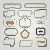 Signs, emblems and labels for design Stock Image