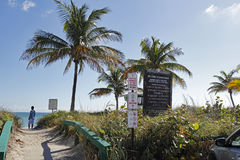 Signs and Entrance to Dania Beach Stock Photos