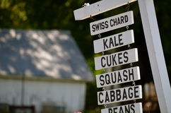 The signs of a farm stand in NH Royalty Free Stock Image
